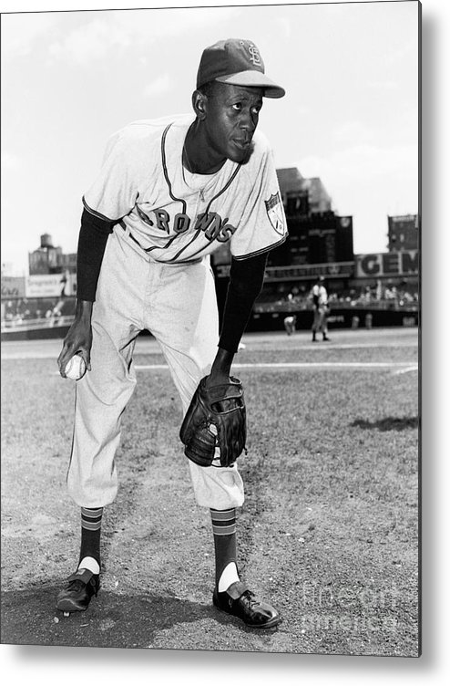 American League Baseball Metal Print featuring the photograph Satchel Paige by Kidwiler Collection