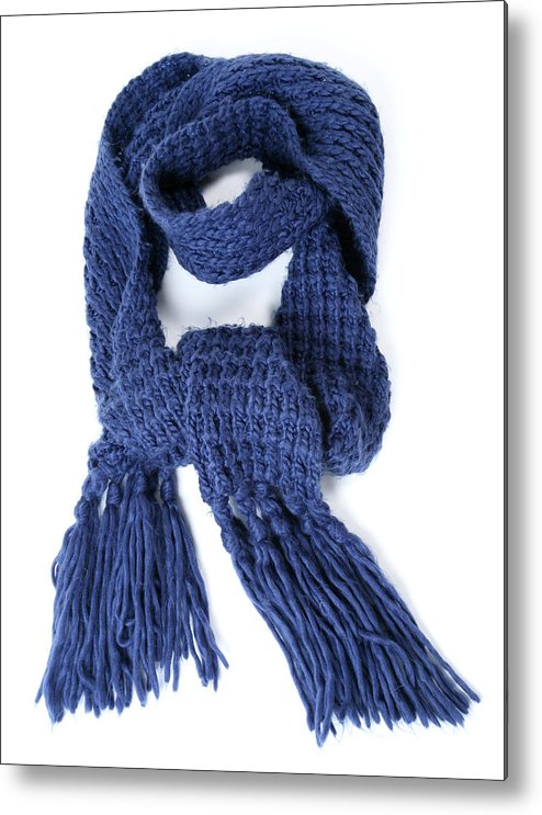 White Background Metal Print featuring the photograph Scarf by Antagain