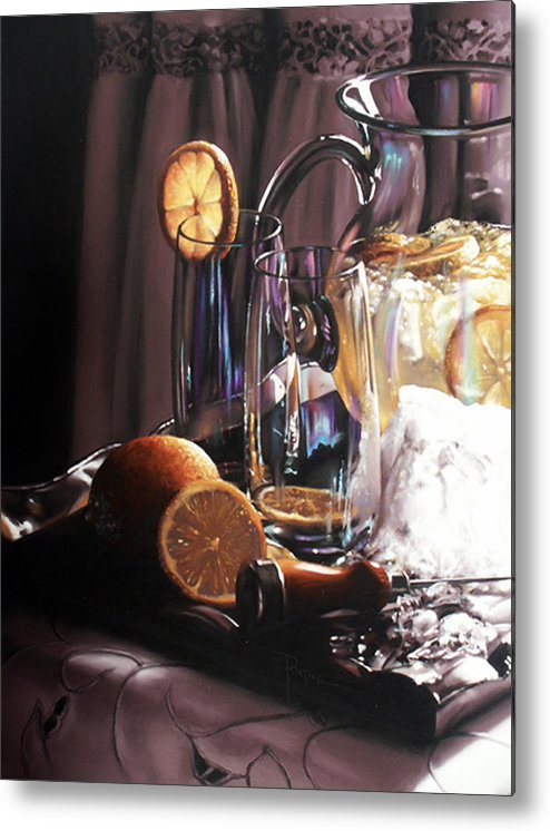 Lemons Metal Print featuring the painting Sunkist by Dianna Ponting