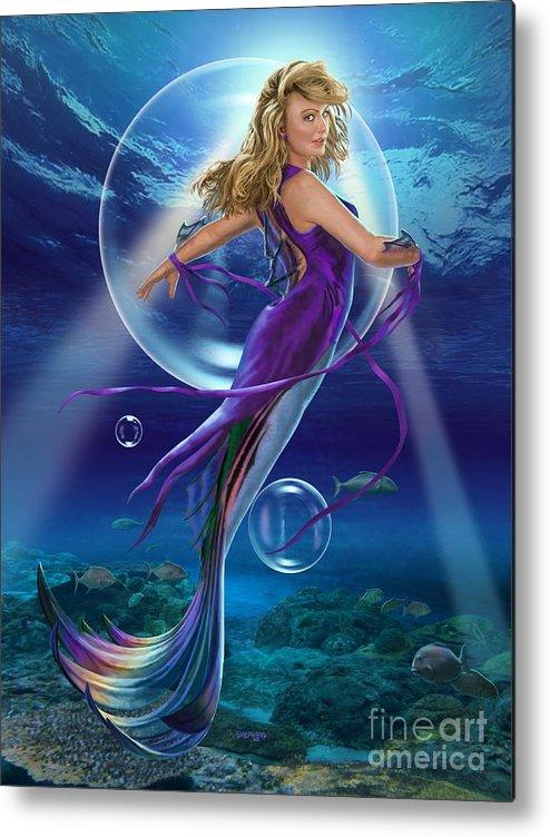 Mermaid Metal Print featuring the digital art The SeaDancer by Stu Shepherd