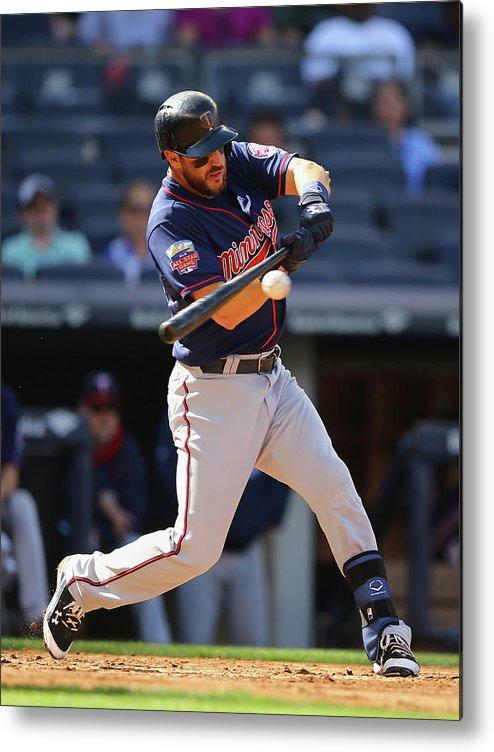 American League Baseball Metal Print featuring the photograph Trevor Plouffe by Al Bello