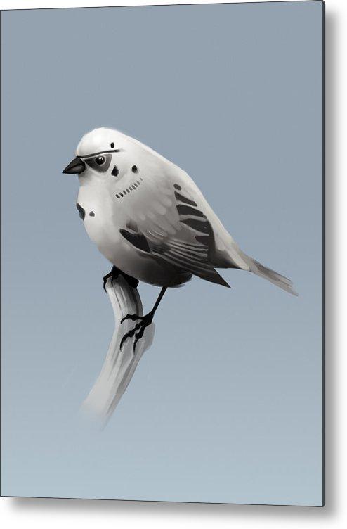 Birds Metal Print featuring the digital art Trooper Bird by Michael Myers