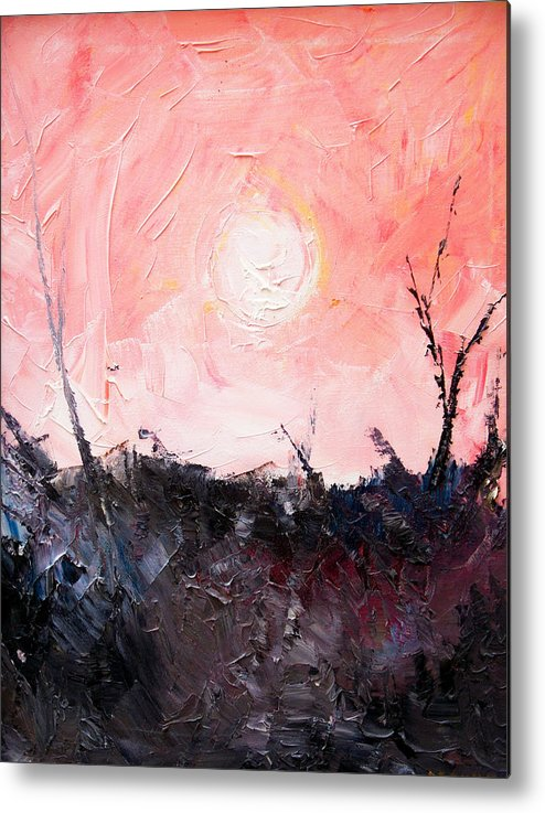 Duck Metal Print featuring the painting White Sun by Sergey Bezhinets