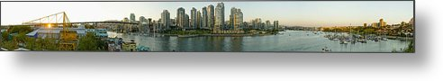 Light Metal Print featuring the photograph View Of False Creek And Granville by Hot Digital Dog Studios