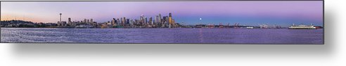 Seattle Metal Print featuring the photograph Seattle Skyline Panorama - Massive by Scott Campbell