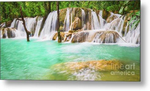 Tat Sae Waterfalls. Beautiful landscape, Laos. Panorama by MotHaiBaPhoto Prints