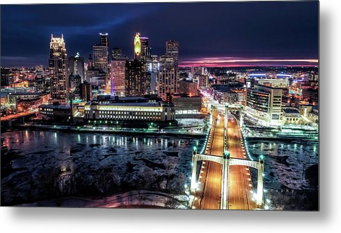 Minneapolis Skyline from the Mississippi river by Gian Lorenzo Ferretti