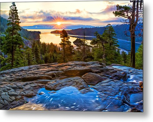 Sunrise at Emerald Bay by Maria Coulson