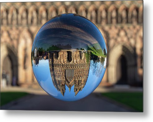 Lichfield Metal Print featuring the photograph Lichfield lens ball by Steev Stamford