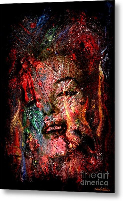 Marilyn Monroe  Metal Print featuring the painting Marilyn Monroe by Mark Ashkenazi
