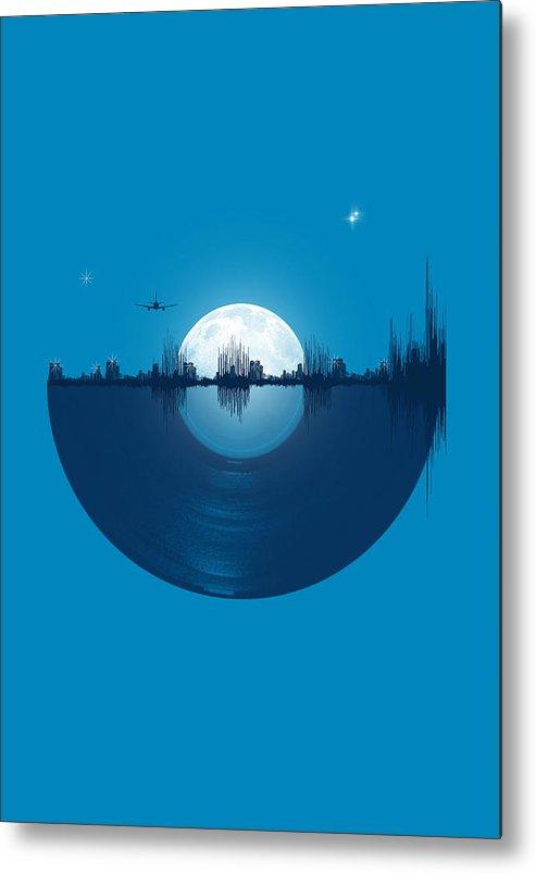 City Metal Print featuring the digital art City Tunes by Neelanjana Bandyopadhyay