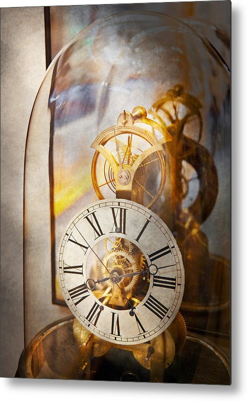 Clockmaker Metal Print featuring the photograph Clockmaker - A Look Back In Time by Mike Savad