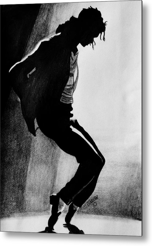 Michael Jackson Dance Tippy Toes Sillouhette Pop Star Music Metal Print featuring the drawing Dance by Jeremy Moore