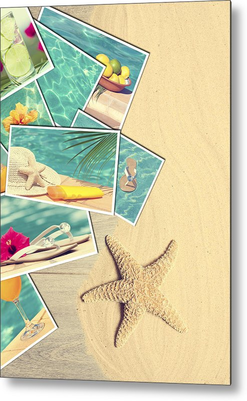 Sand Metal Print featuring the photograph Holiday Postcards by Amanda Elwell