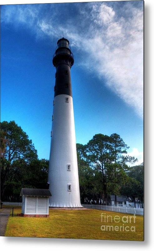 Lighthouses Metal Print featuring the photograph Hunting Island Lighthouse by Mel Steinhauer