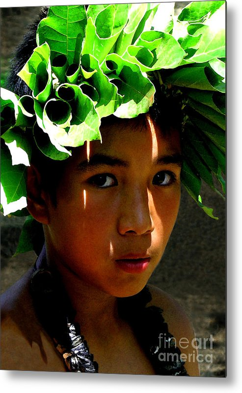 Hawaii Metal Print featuring the photograph Molokai Keiki Kane by James Temple