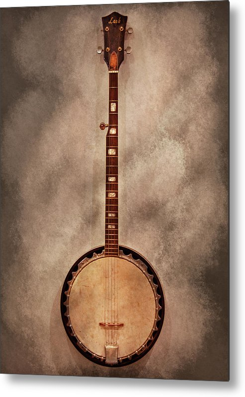 Instrument Metal Print featuring the photograph Music - String - Banjo by Mike Savad