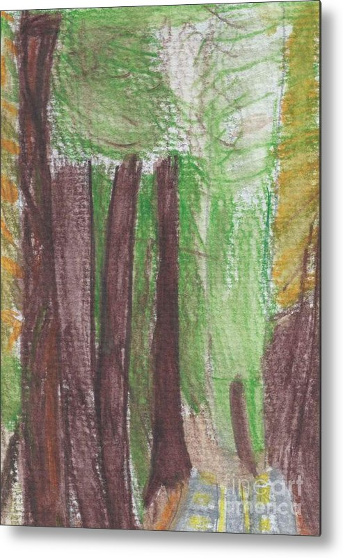 National Forest Paint Metal Print featuring the painting National Forest by Epic Luis Art