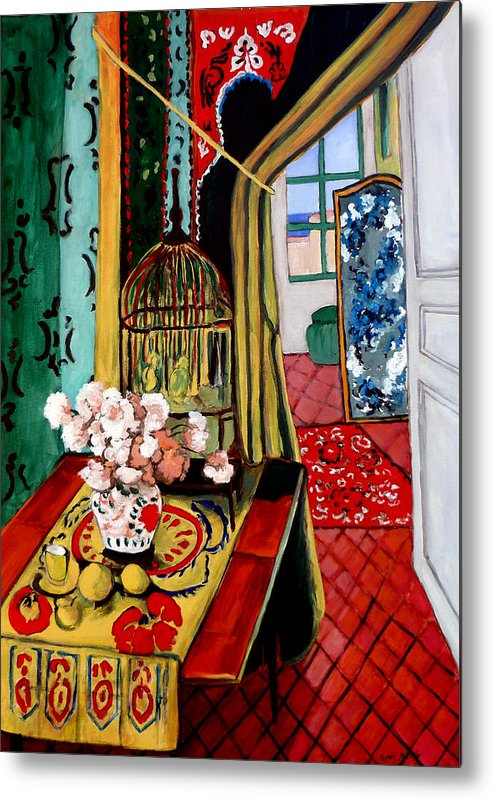 Room With A View Metal Print featuring the painting Room With A View After Matisse by Tom Roderick
