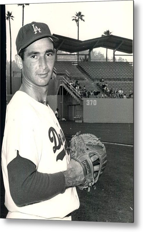 Sandy Metal Print featuring the photograph Sandy Koufax Photo Portrait by Gianfranco Weiss