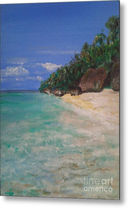 Philippines Metal Print featuring the painting Siquijor Beach by Richard John Holden RA