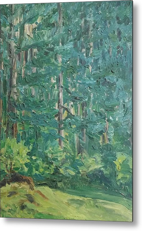 France Metal Print featuring the painting The Vosges Forest by Robert Engel