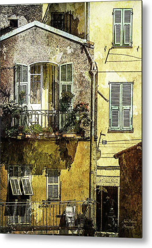 Villefranche Metal Print featuring the photograph Warmth Of Old Villefranche by Julie Palencia