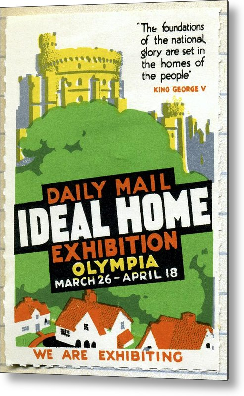 Ideal Home Exhibition Metal Print featuring the photograph Ideal Home Exhibition Stamp, 1920 by Cci Archives