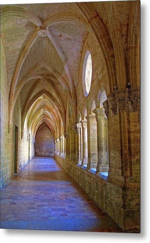 Monastery Metal Print featuring the photograph Inside A Monastery by Dave Mills