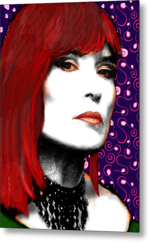 Portrait Metal Print featuring the painting Judy Rose by Jann Paxton