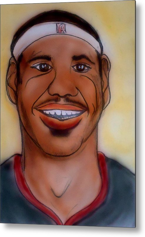 Lebron James Metal Print featuring the painting Lebron James by Pete Maier