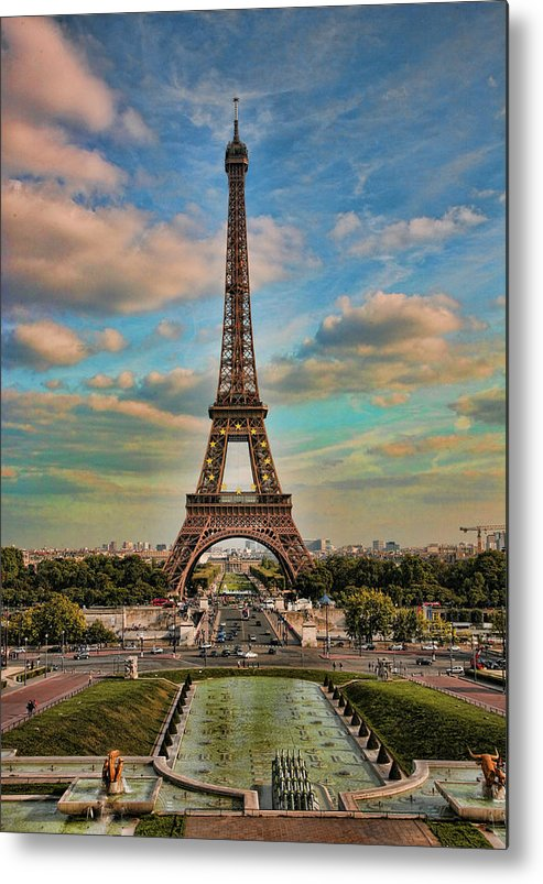 Paris Metal Print featuring the photograph Eiffel Tower V by Chuck Kuhn