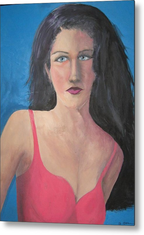 Figure Metal Print featuring the painting Girl From Russia by Sheryl Sutherland