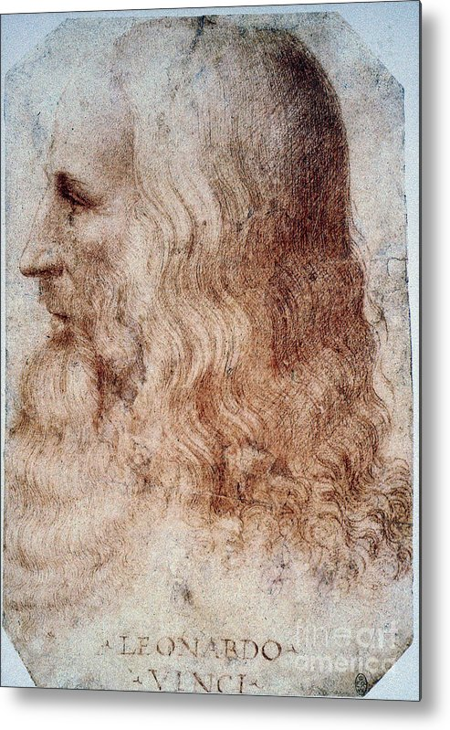 16th Century Metal Print featuring the photograph Leonardo Da Vinci by Granger