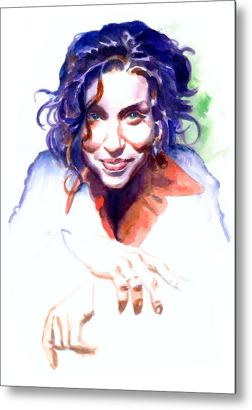Ani Difranco Metal Print featuring the painting Ani Difranco by Ken Meyer