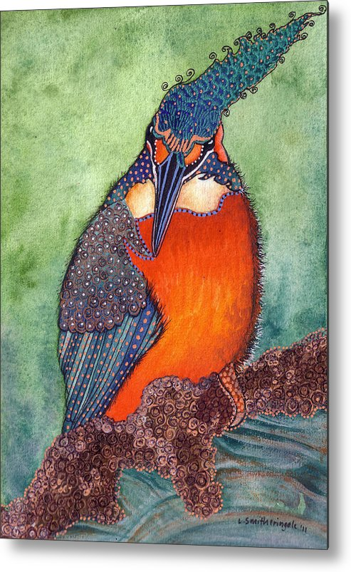 Bird Metal Print featuring the painting Autumn Soujourn by Lesley Smitheringale
