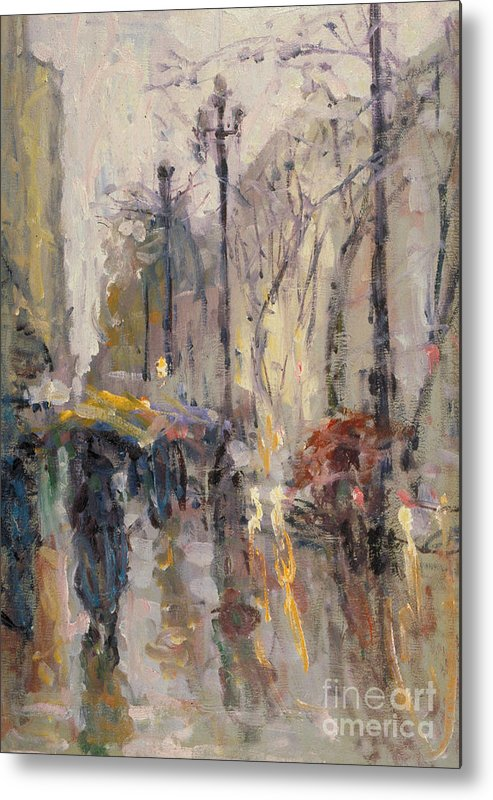 Plein-air Metal Print featuring the painting Caught In A Storm Of Wonder by Jerry Fresia