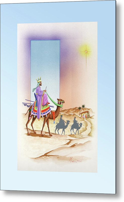 Christmas Metal Print featuring the painting Christmas 3 by Laura Greco