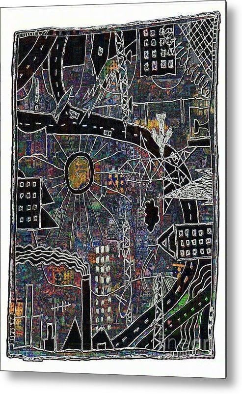 City Sun Metal Print featuring the digital art Citysun 2 by Andy Mercer