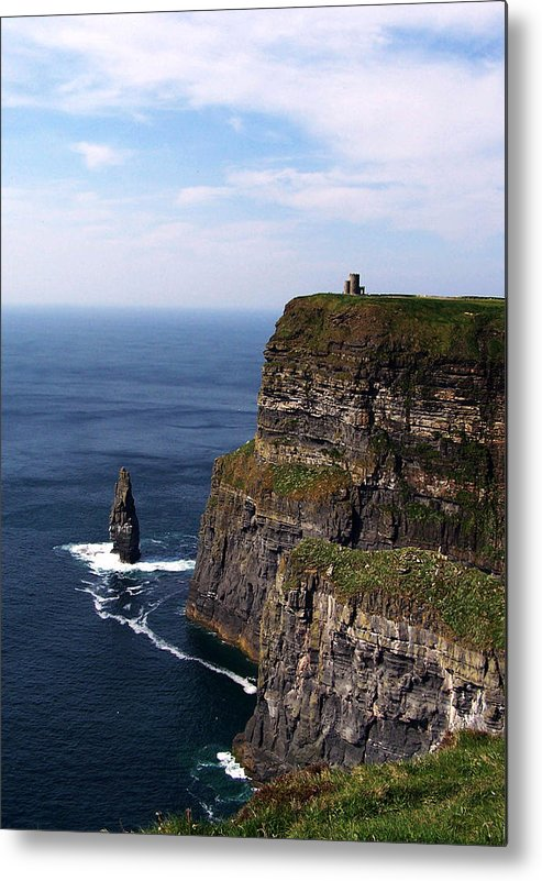 Irish Metal Print featuring the photograph Cliffs Of Moher County Clare Ireland by Teresa Mucha