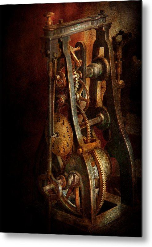 Hdr Metal Print featuring the photograph Clockmaker - Careful I Bite by Mike Savad