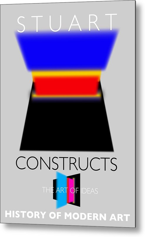 De Stijl Metal Print featuring the painting Constuctivist Poster by Charles Stuart