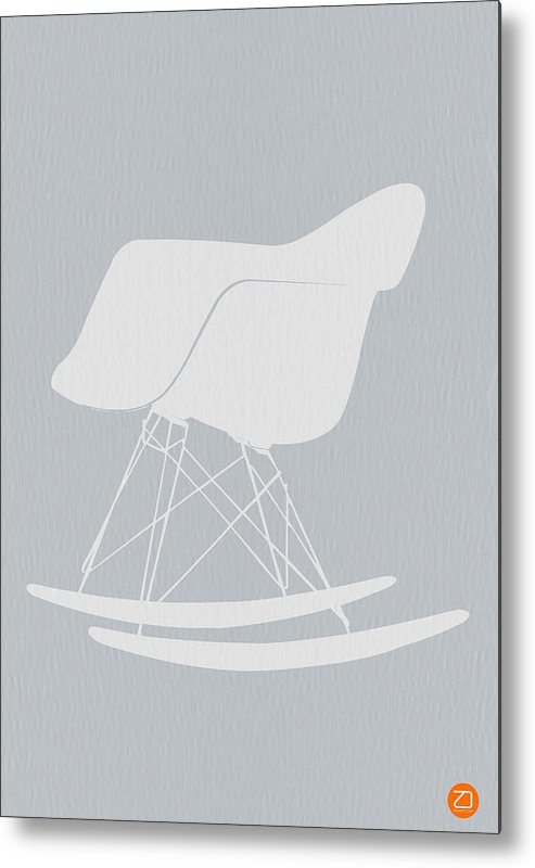 Eames Metal Print featuring the photograph Eames Rocking Chair by Naxart Studio