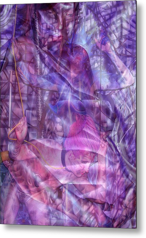 Body Paint Metal Print featuring the painting Embryotic Dreaming by Leigh Odom