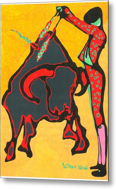 Toros Metal Print featuring the painting Faena Taurina by Wilson Abad