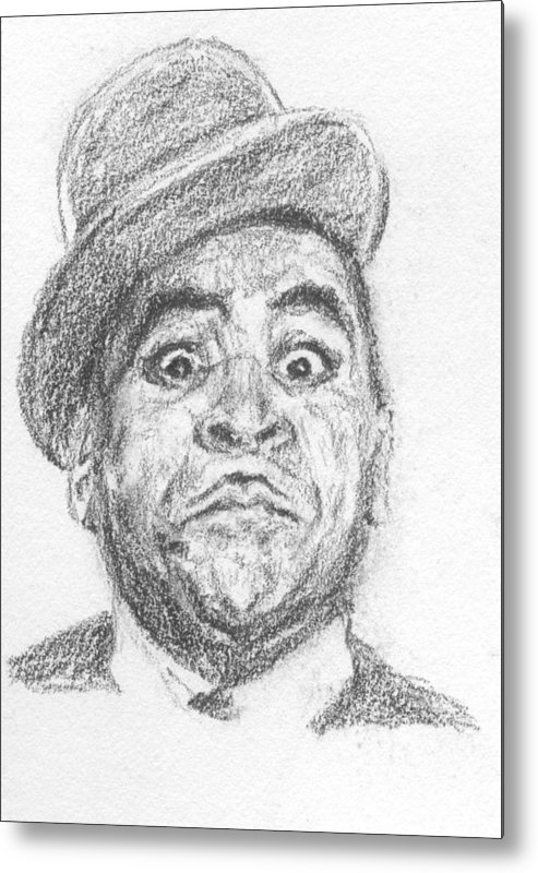 Fats Waller Metal Print featuring the drawing Fats Waller by Maya Lewis