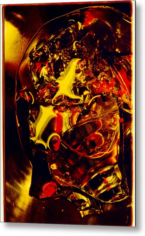 Abstract Metal Print featuring the photograph Glassman by David Rivas