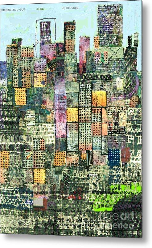 Urban Art Metal Print featuring the digital art Green Metropolis by Andy Mercer