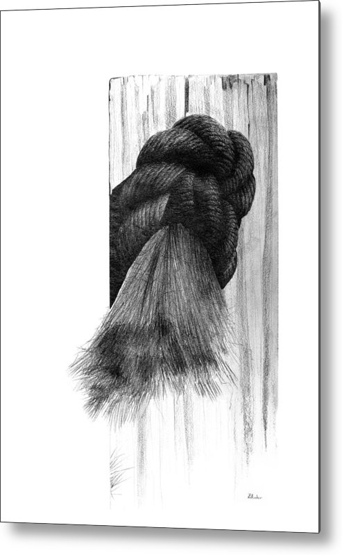 Knot Metal Print featuring the drawing Knot by Brent Ander