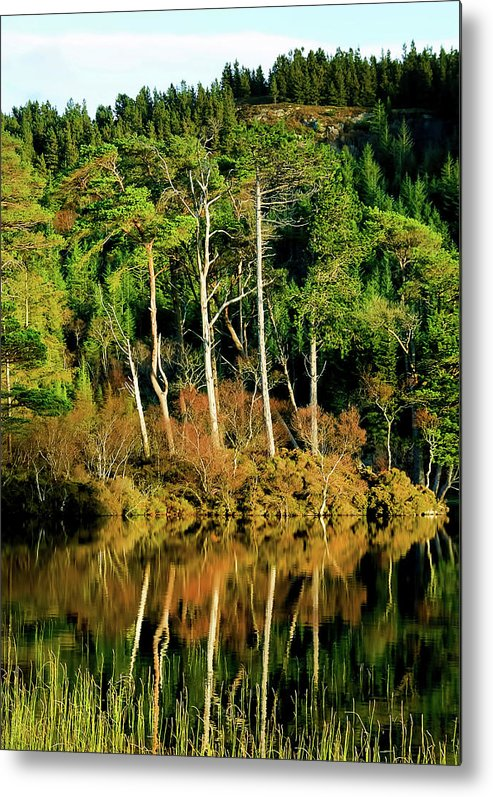 Plockton Metal Print featuring the photograph Loch Lundie by Smart Aviation